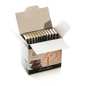 Boite de 20 carrés de chocolat au lait- Le petit carré de chocolat