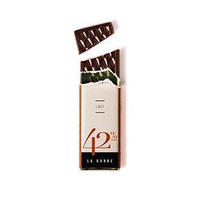 Barre de chocolat au lait- Le petit carré de chocolat