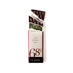 Barre de chocolat 6!% de cacao origine Mexique
