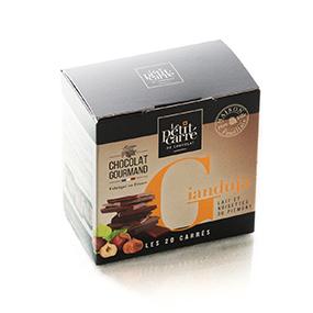 Carrés de chocolat gianduja