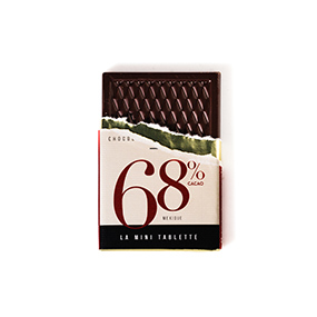 Mini tablette de chocolat 68% de cacao origine Mexique