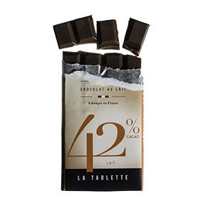 Tablette de chocolat au lait-Le petit carré de chocolat