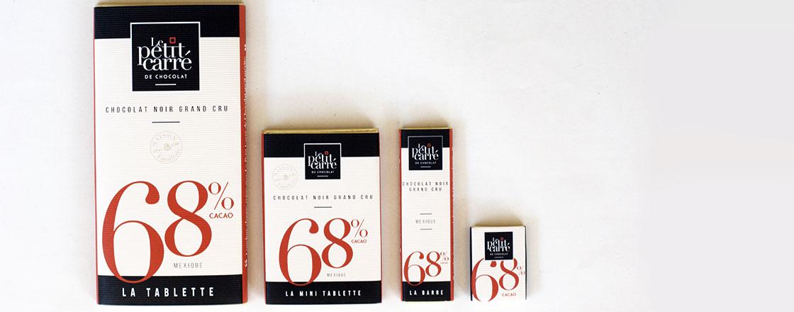 gamme chocolat 68 orgine mexique-Le petit carre de chocolat