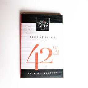 Mini tablette de chocolat au lait- Le petit carré de chocolat