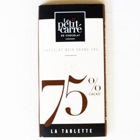 tablette chocolat 75 origine tanzanie-Le petit carre de chocolat