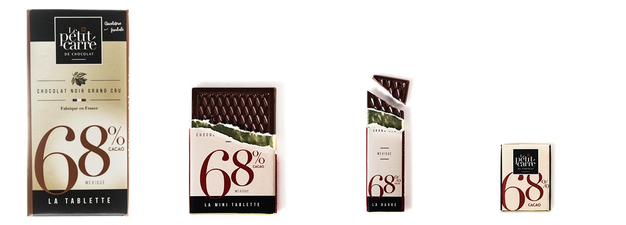 Gamme chocolat 68% origine Mexique