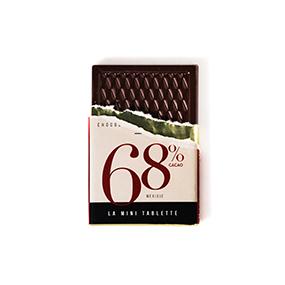 Mini tablette de chocolat 68% de cacao origine Mexique