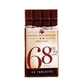 Tablette de chocolat 68% de cacao origine Mexique- Le Petit Carré de Chocolat