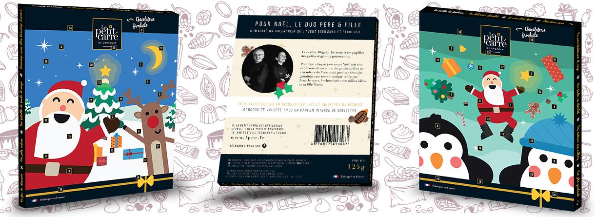 Calendrier de l'avent chocolat Noel